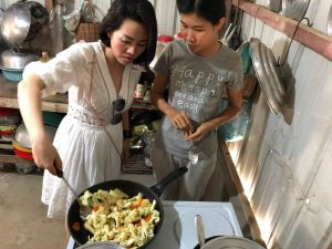 Cooking after Khmer silk experience