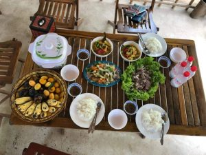 Food after Khmer silk experience