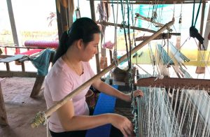 Silk weaving