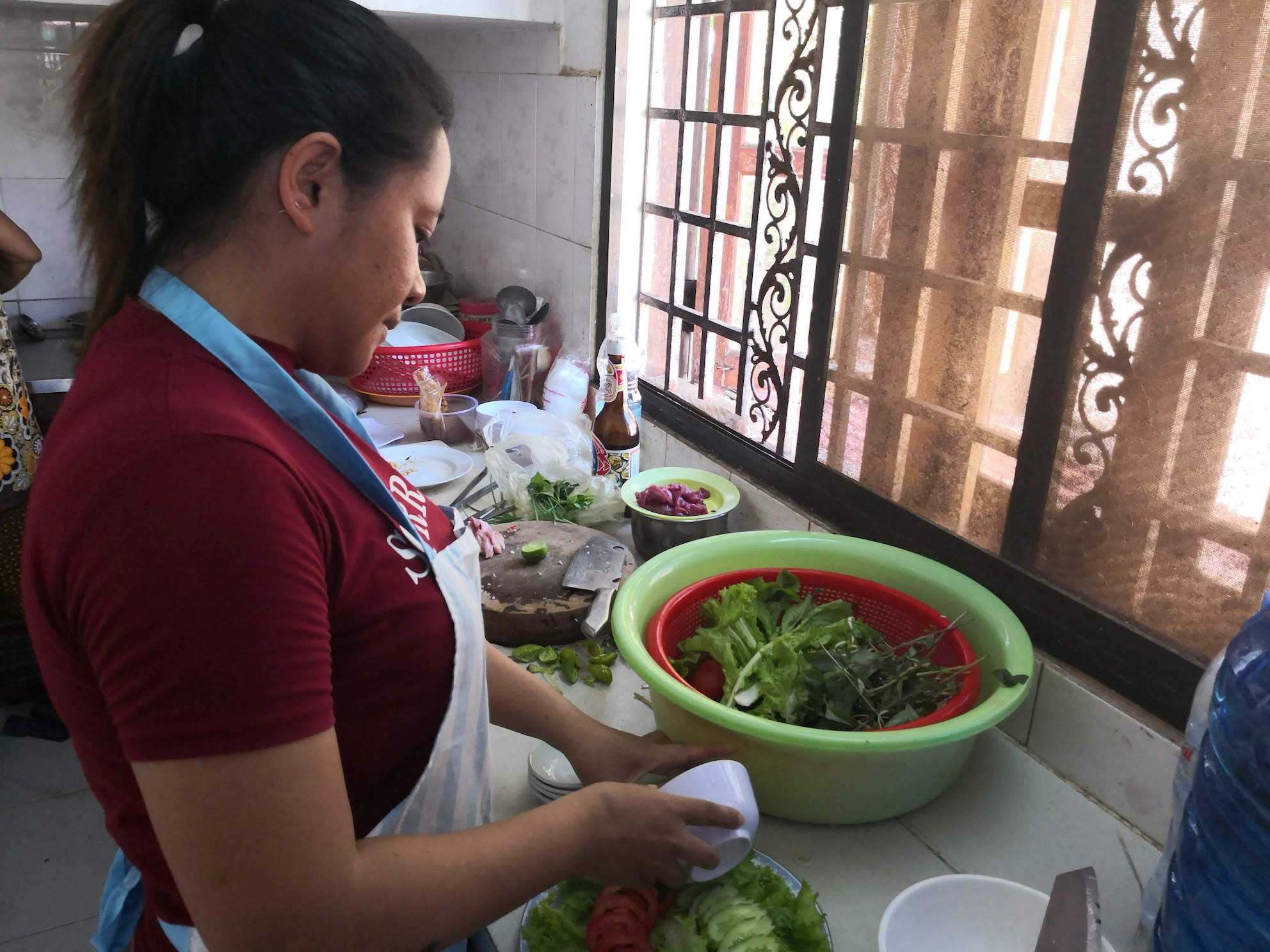 Srey Moch is an experienced cook and housewife