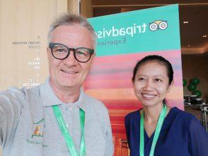 Thomas and Thyda at the Tripadvisor APAC 2019 summit in Bangkok