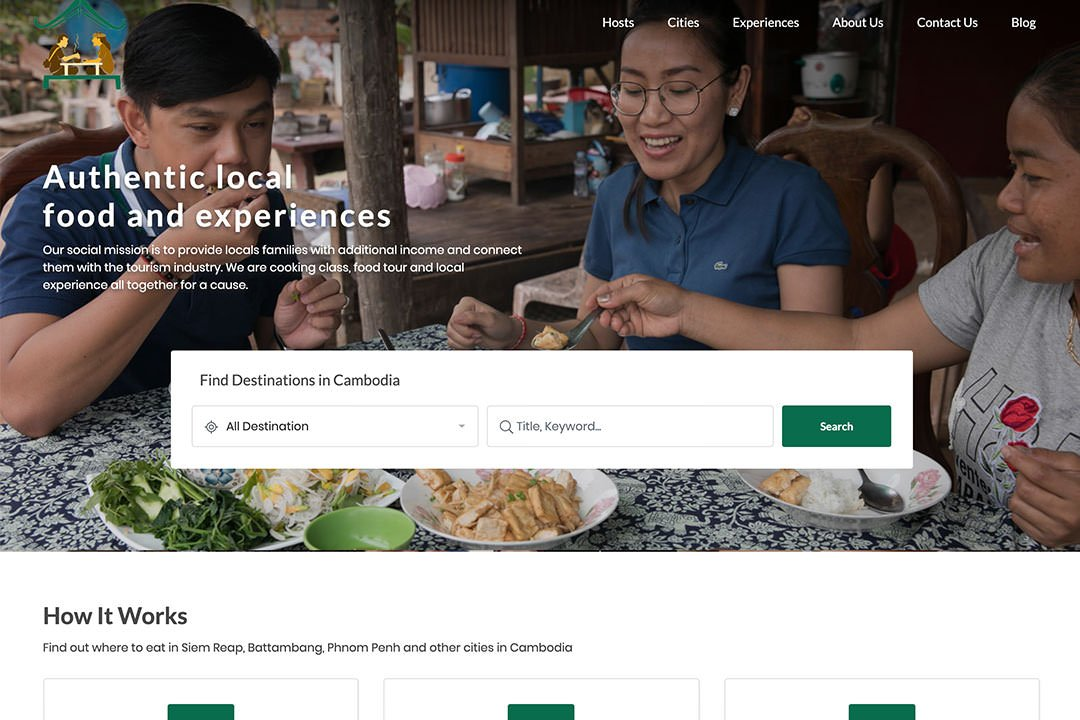 New Website with more Khmer food and experiences