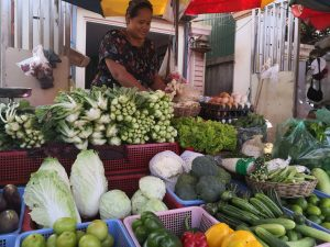 A market stall in Siem Reap