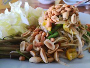 Spicy mango salad Khmer style
