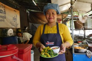 Make Khmer street food in the morning
