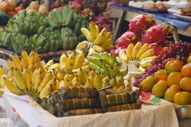 Fresh fruits at a local market