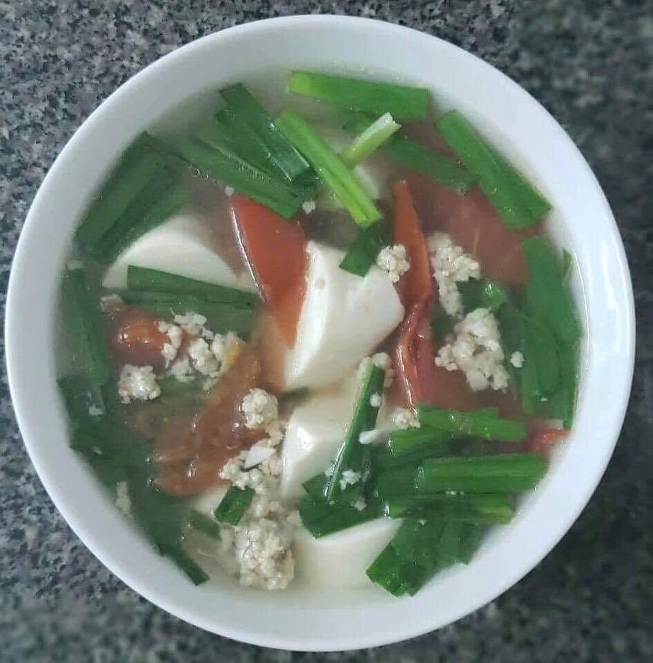 Soup with vegetables and Tofu