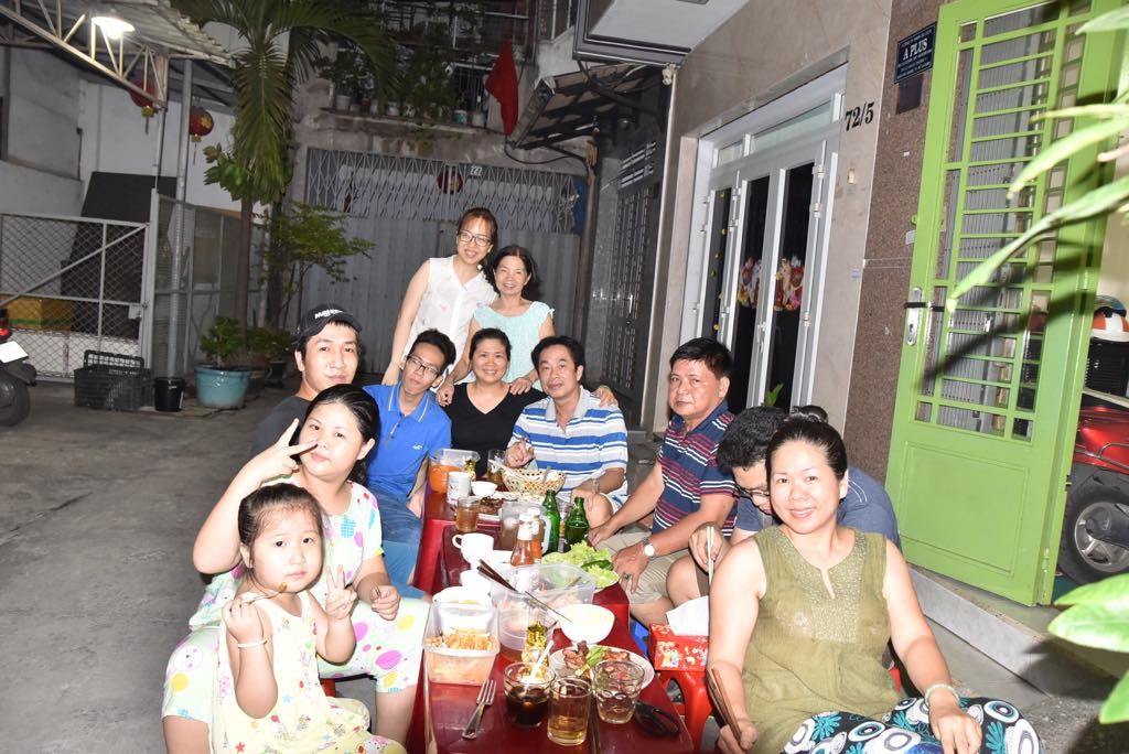 Our host family in Ho Chi Min City
