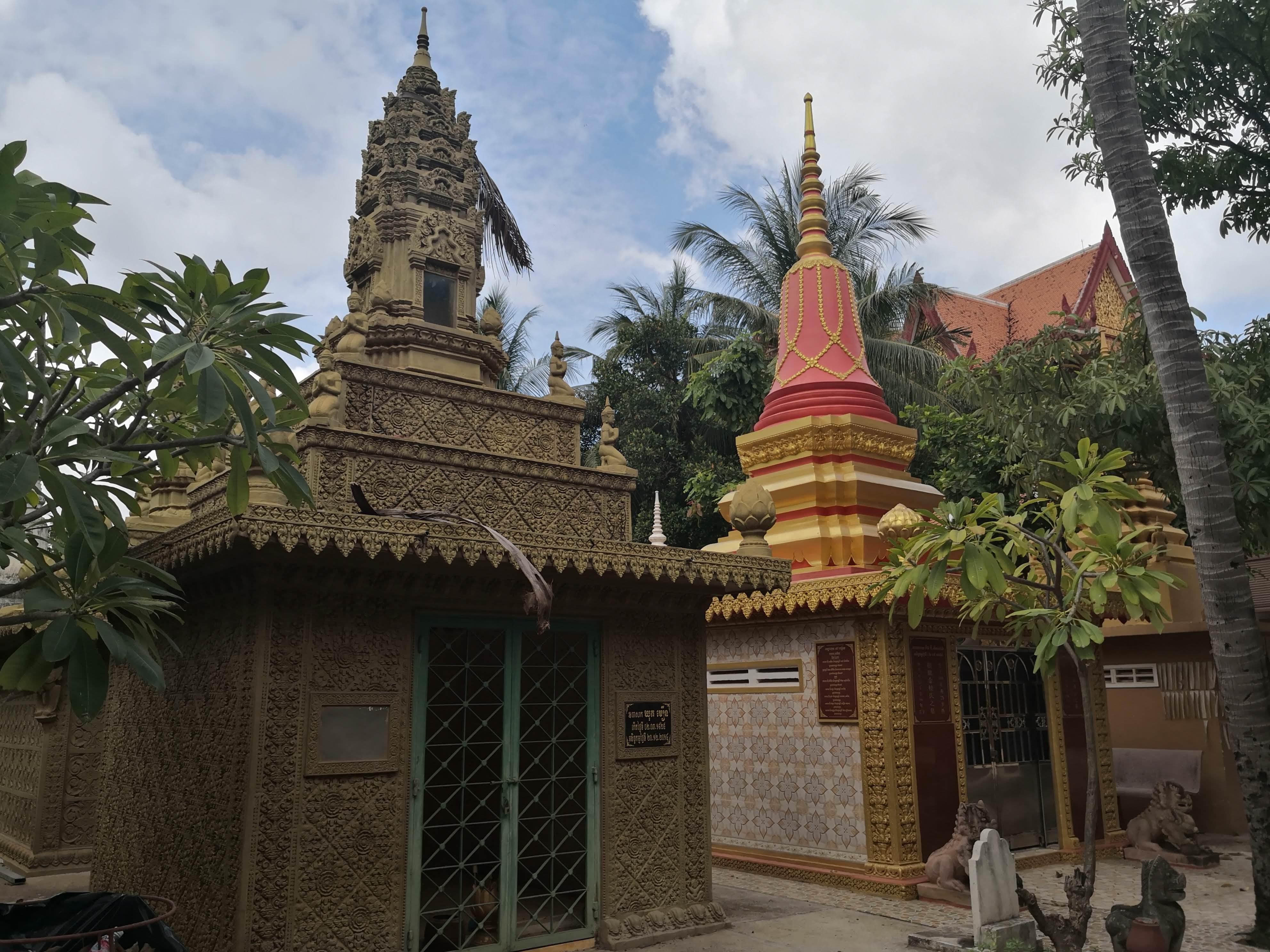 Stupas in Wat Damnak in Siem Reap