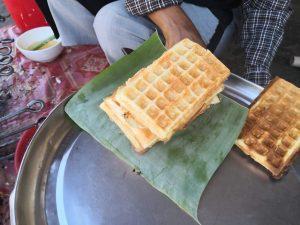Nom Pom, the Khmer coconut waffles