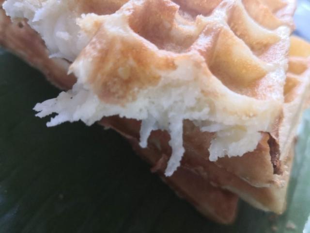 Ms Laum makes Num Poum (Khmer waffles) in Siem Reap