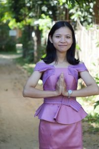 Sam peah, the Khmer greeting for friends