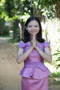 Sam peah, the Khmer greeting for older people