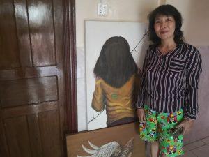 Es gibt viele einheimische Künstler die in Siem Reap ausstellen.