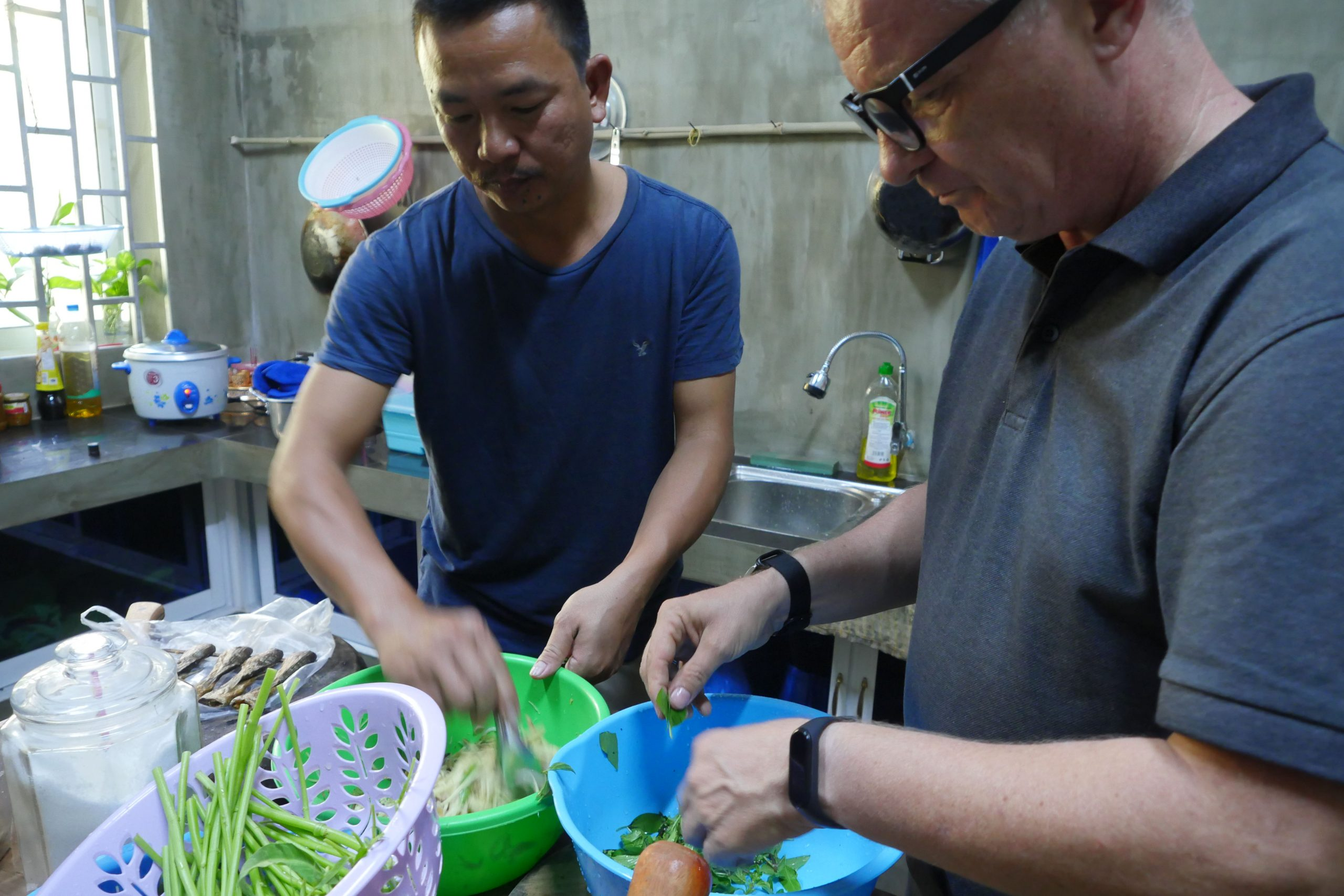 Cooking in Siem Reap with Mr. Theng Him