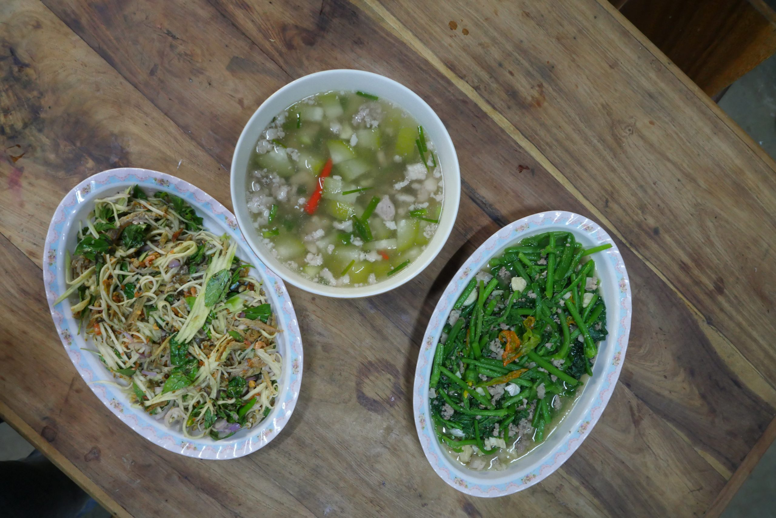 You cook three Cambodian dishes for lunnch or dinner