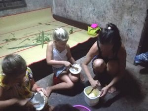 Cooking class in Cambodia means also make Khmer waffles