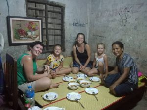 Cooking class with children in Cambodia