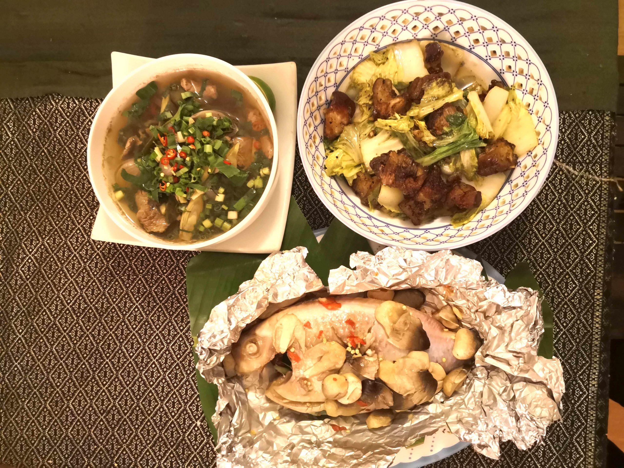 Enjoy three Khmer dishes