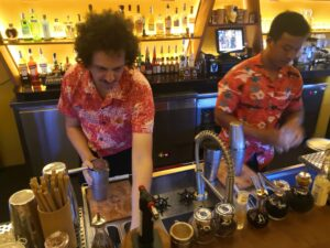 The barkeepers at Bar 43, one of the best five bars in Siem Reap 2020