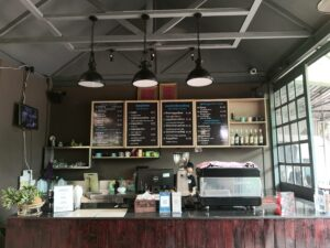 Romsai offers coffee and food